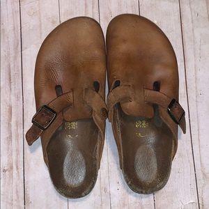 Birkenstock Tan Leather Clog Size 39